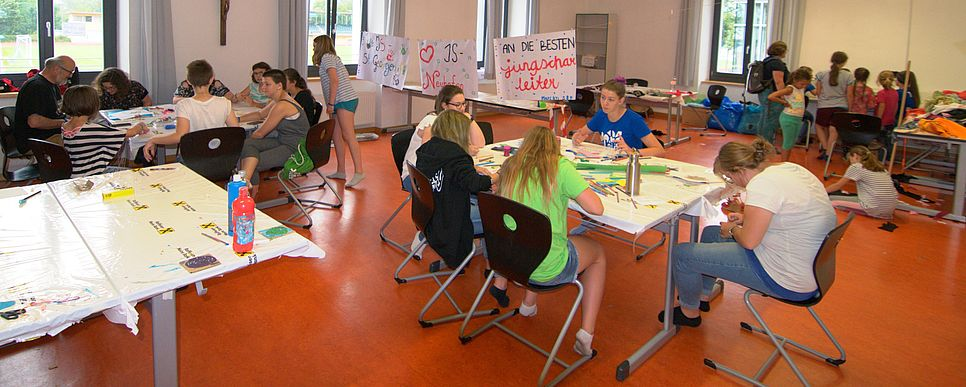 Kinder bei Workshops
